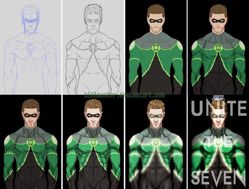 SJ6 Green Lantern_Process by KidiMaster