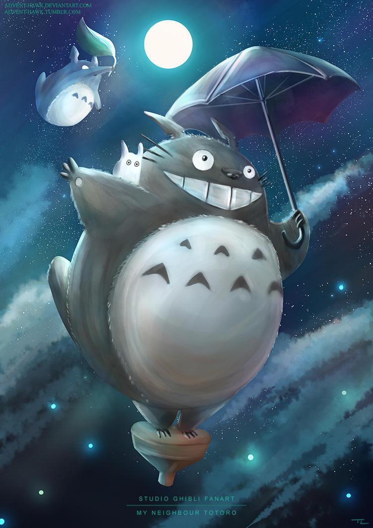 My Neighbour Totoro - Studio Ghibli Fanart by Advent-Hawk