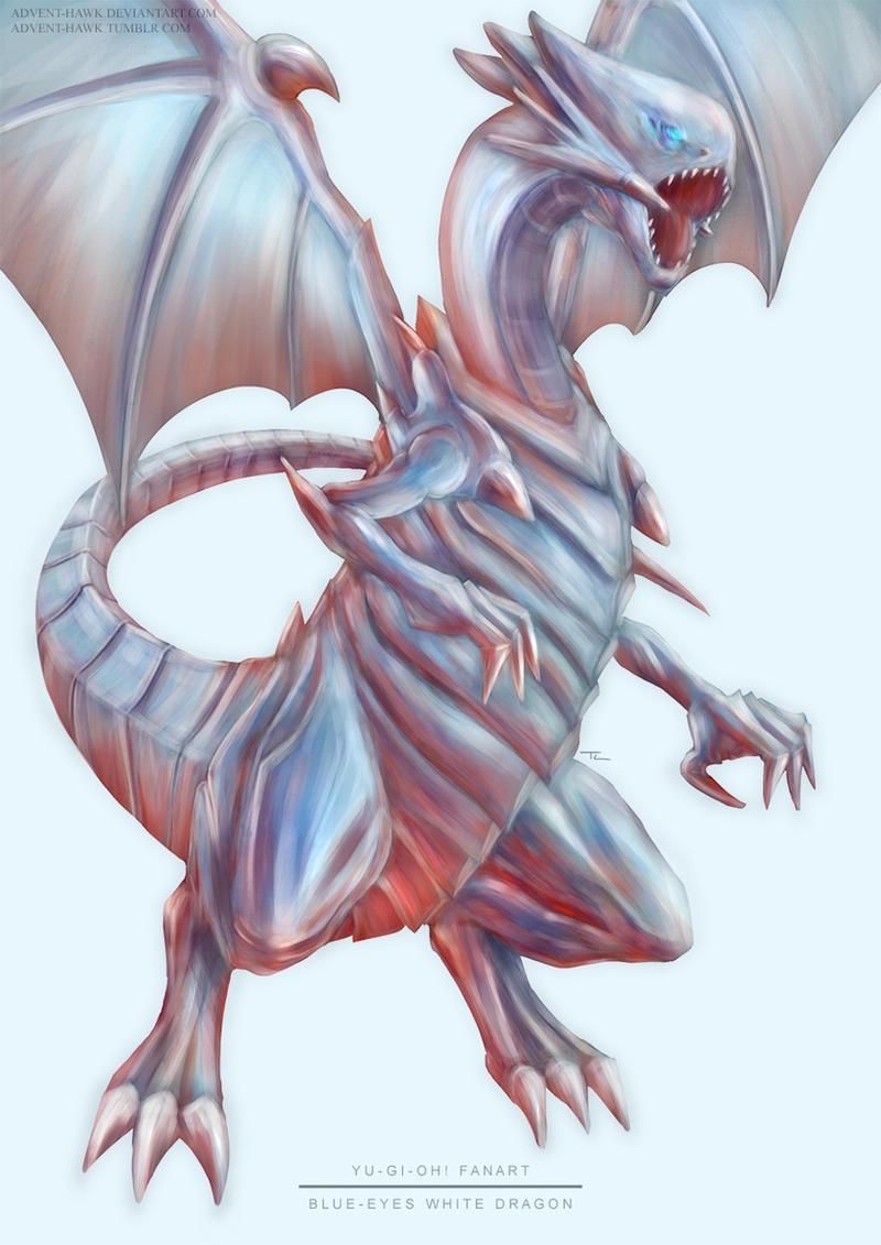 yu gi oh blue eyes white dragon by advent hawk on deviantart