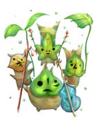 Breath of the Wild/The Wind Waker - The Koroks by Advent-Hawk