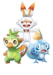 Pokemon Sword/Shield - The Galar Starters