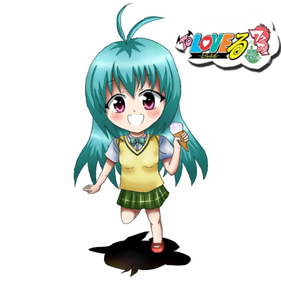 Anime running chibi