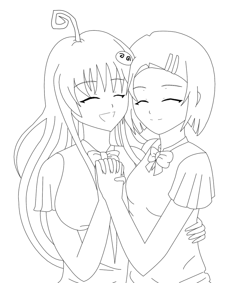 coloring pages of best friends | TLR: Best friends -Lineart- by Dianga-12 on DeviantArt
