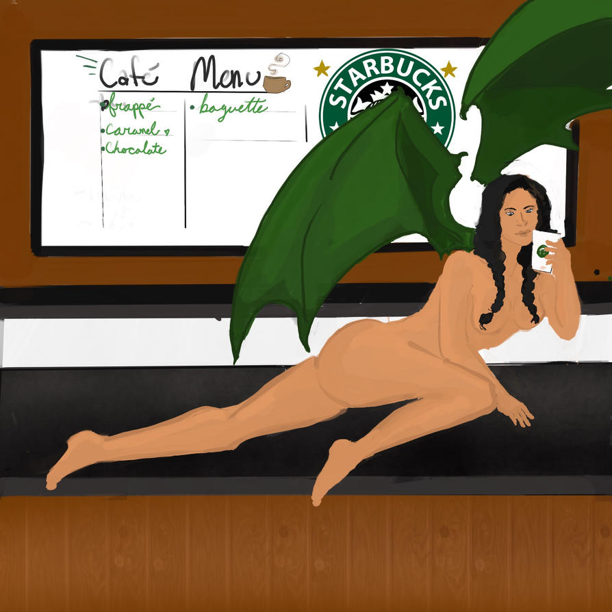 Starbucks succubus by metallickitty