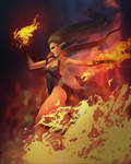 Fairy of a raging fire