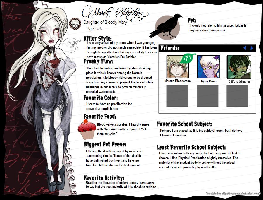 Marah Bloodstone Bio by Amythest621