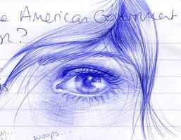 Biro eye doodle by sharmz