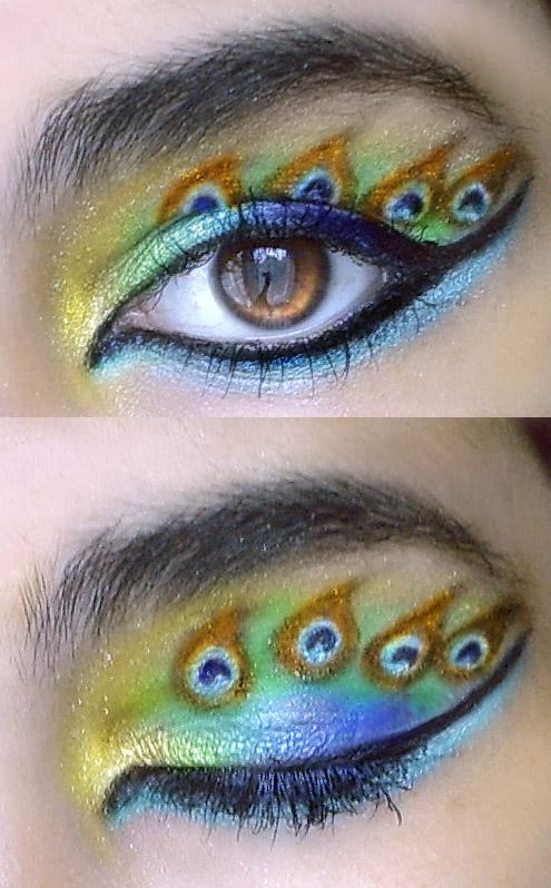 Peacock eye make-up remake