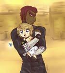 Gerudo Link and Ganondorf