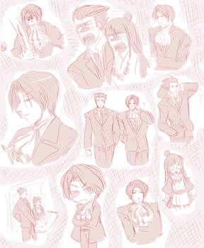 Ace Attorney Sketches