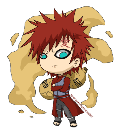 Chibi Gaara by EmoRapunzel on DeviantArt Gaara And Naruto Chibi