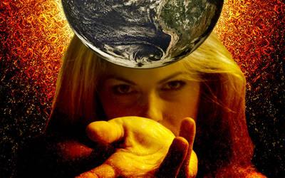 Earth in Hand -Wall