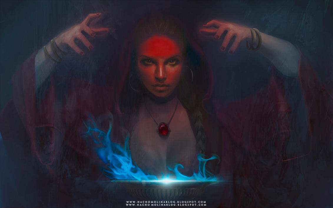 THE RED WITCH by nachomolina