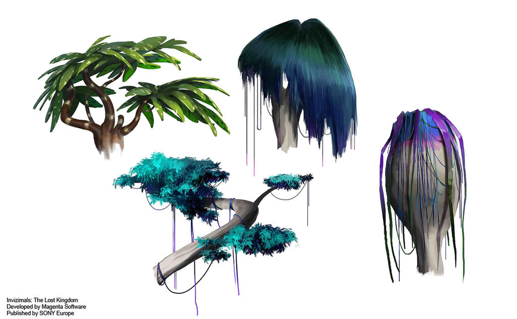 INVIZIMALS Treetop Designs by nachomolina