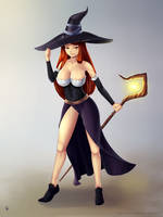 Sorceress by Silent-fly