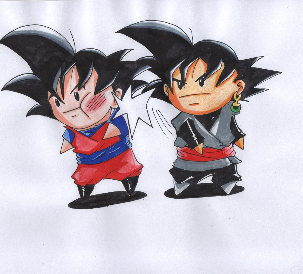 Chibi Goku And Black By Kikkycastillo On DeviantArt