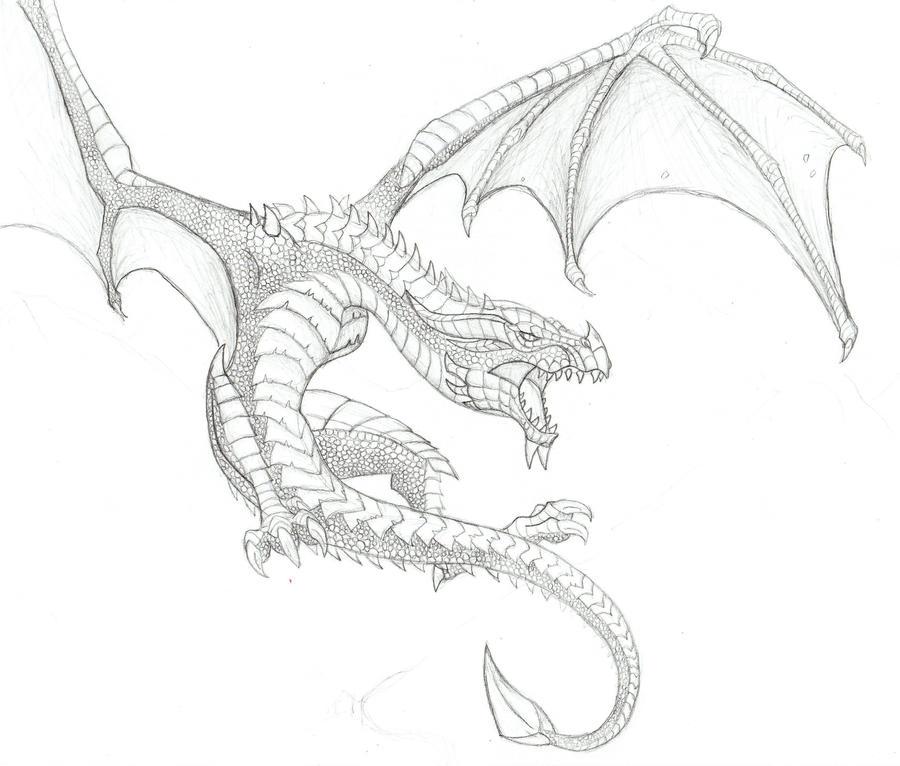 Skyrim Dragon By Spiritsl On DeviantArt