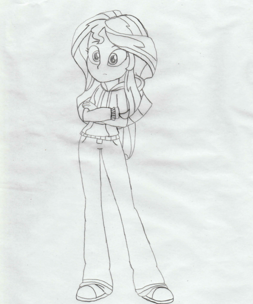 My Little Pony Equestria Girl Coloring Pages Sunset Shimmer - ARCHIDEV