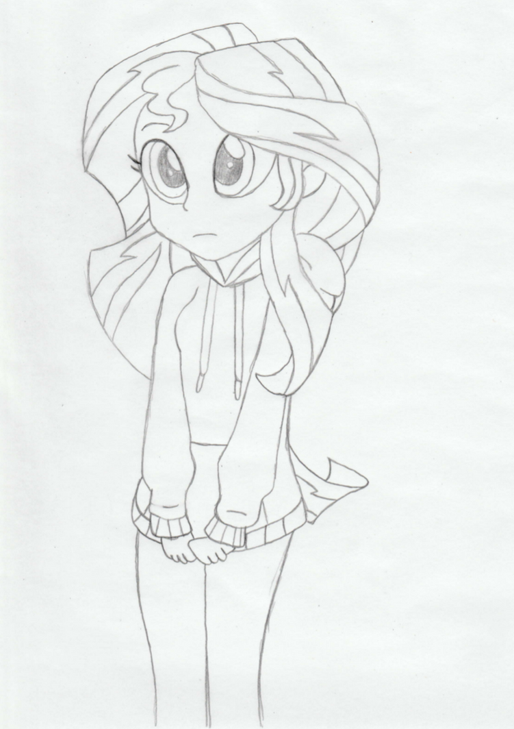 My Little Pony Equestria Girls Sunset Shimmer Coloring Page