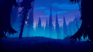 Among Trees - sunset