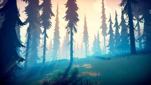 Among Trees - Grassy Field