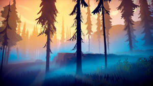 Among Trees - Sunset Forest