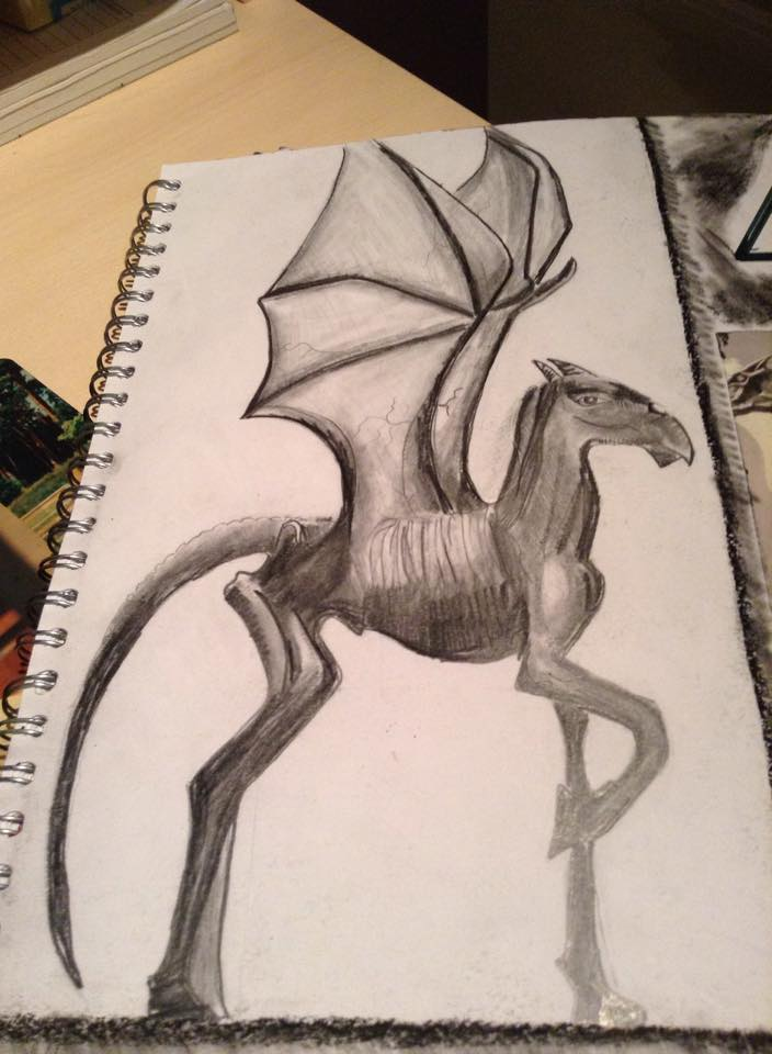 Thestral From Harry Potter by Missgagagothlawyer