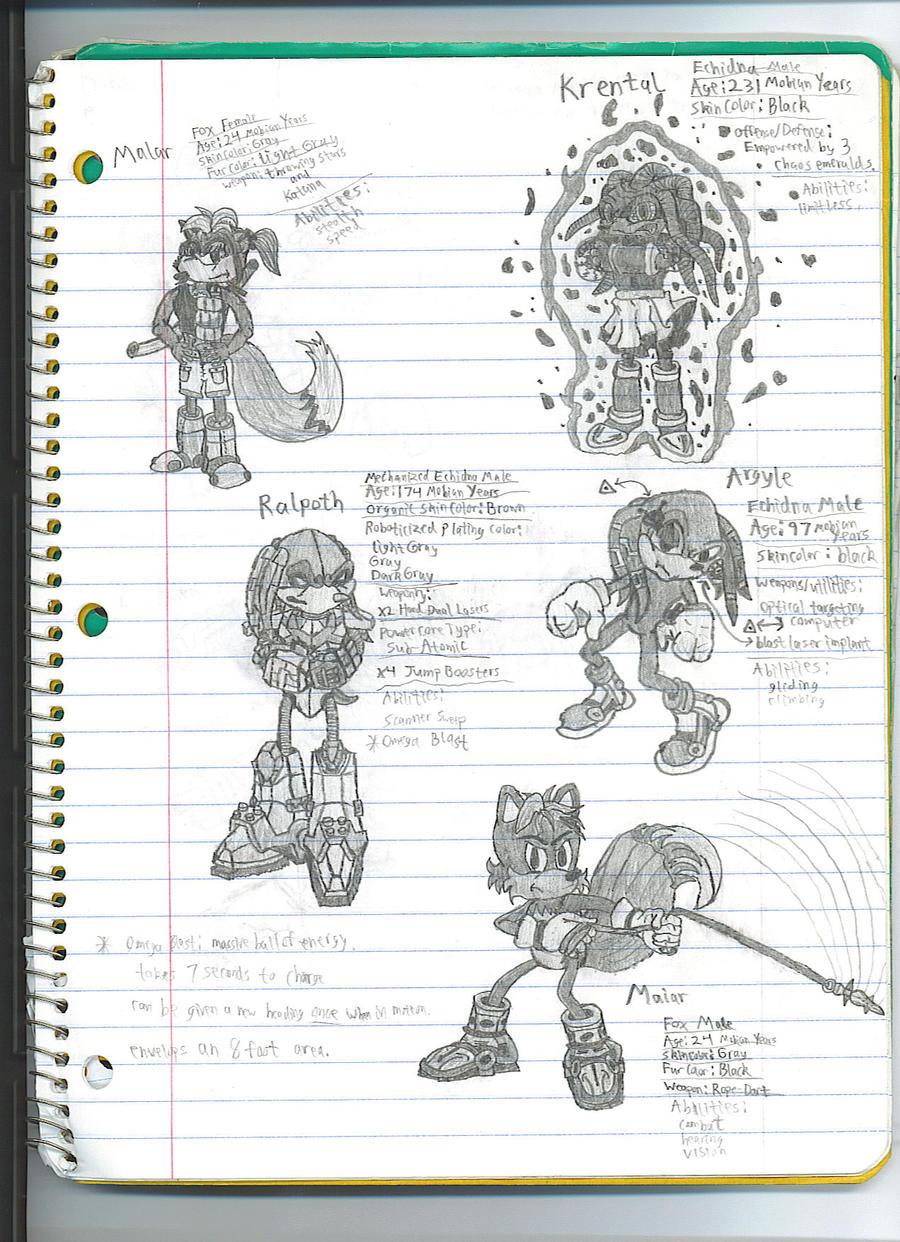 My custom Sonic universe toons by dagothagahnim