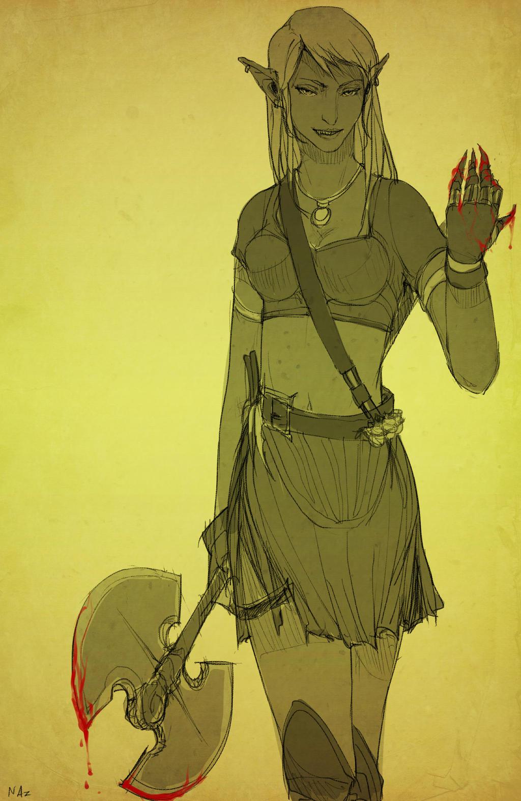 Menarra Darkblade Character Info by dagothagahnim