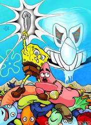 Spongebob the Planarian by spacecowboy76