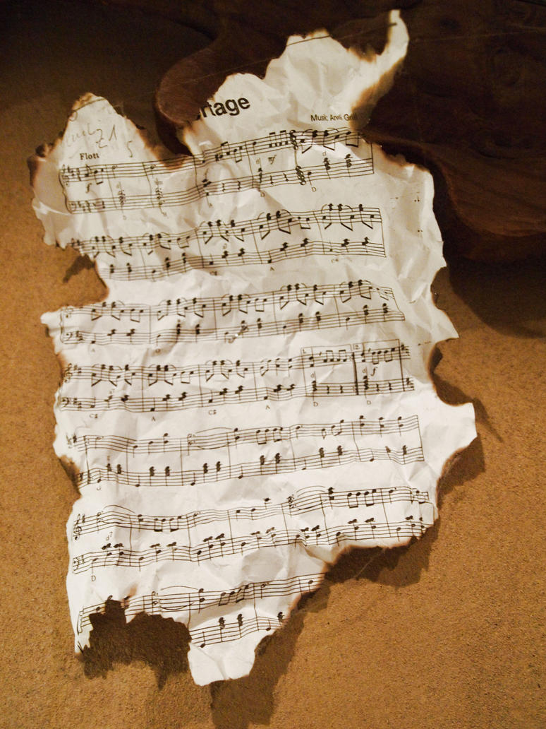 Burned Music Sheet by Limited-Vision-Stock