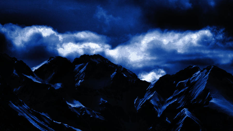 Dark Blue Mountains 03