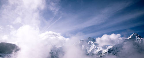 Les Deux Alpes Pano by BWozniakPhotography