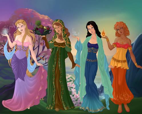 Goddess-Maker-Azaleas-Dolls - The Four Elements