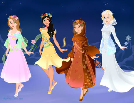 Snow-Queen-Scene-Maker-Azaleas-Dolls  Seasons - 2