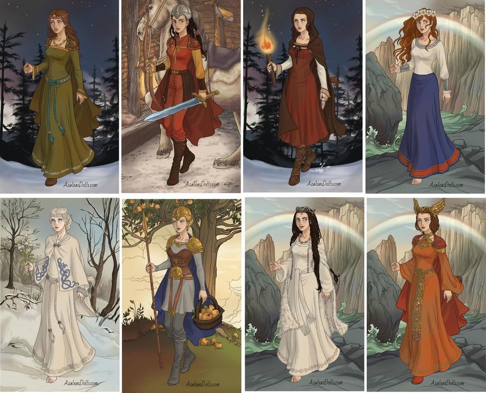 VikingLadyMaker AzaleasDolls -Russian fairytales by Aranel125