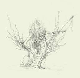 Creature sketch by TimofeyStepanov