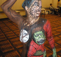 Close up of body paint by dragonhuntr