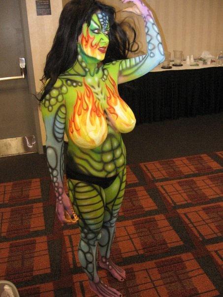 Body paint my Nick Wolfe by dragonhuntr
