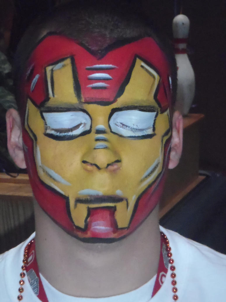 Iron Man Face Paint by dragonhuntr