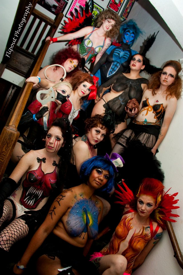 all my girls together in body paint by dragonhuntr on deviantart