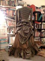 Back view, stripey Victorian by BettyValentine