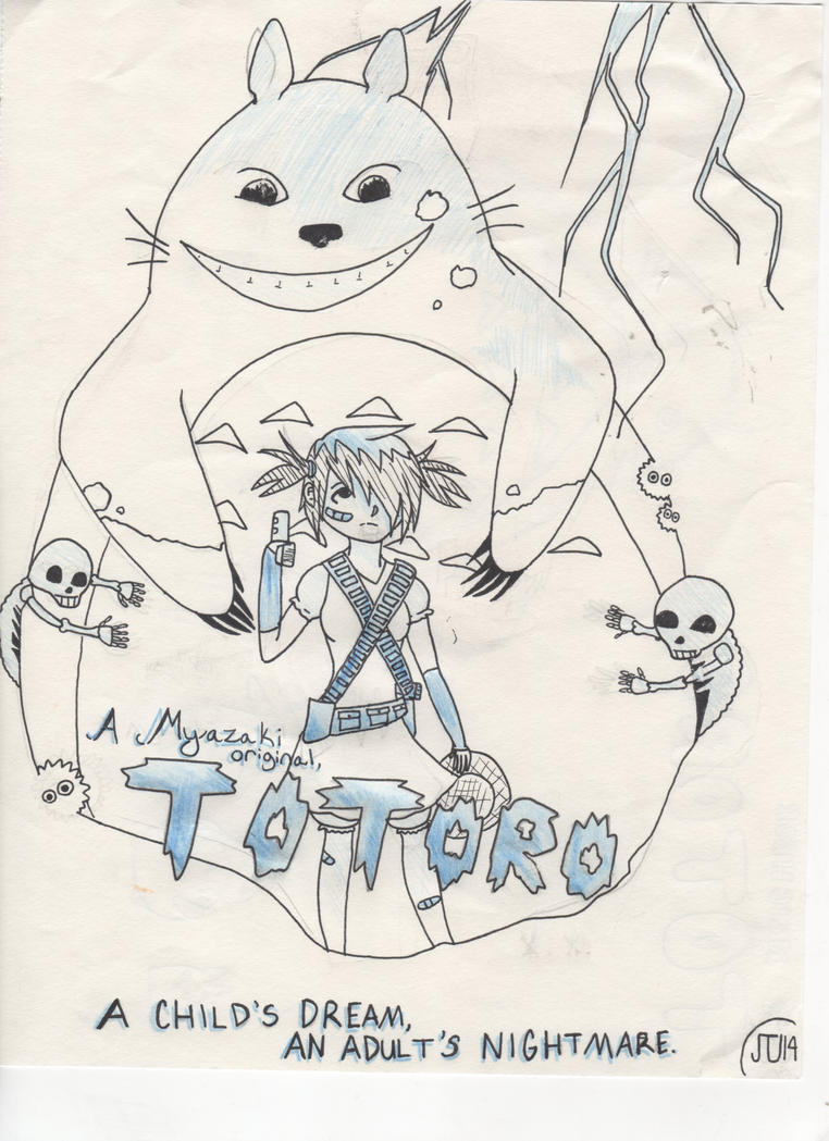 My Nightmare Totoro by Jeffery-The-Unicorn