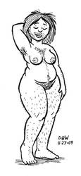 Nude Hairy Lady by stinkywigfiddle