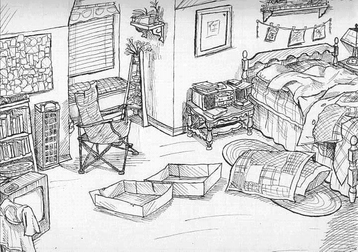 how to draw a dream bedroom