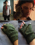 Knit Fingerless Gloves inspired by Mitchell