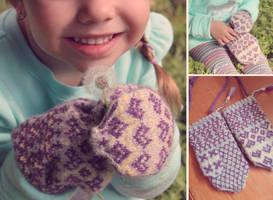 Sami Children's Mittens by kateknitsalot