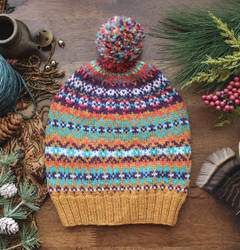 Gold Fair Isle Hat