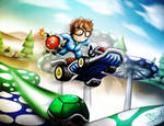 Mii on Mario Kart 7