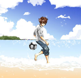 Taichi Prompt 01: Beach Soccer by MsVellona
